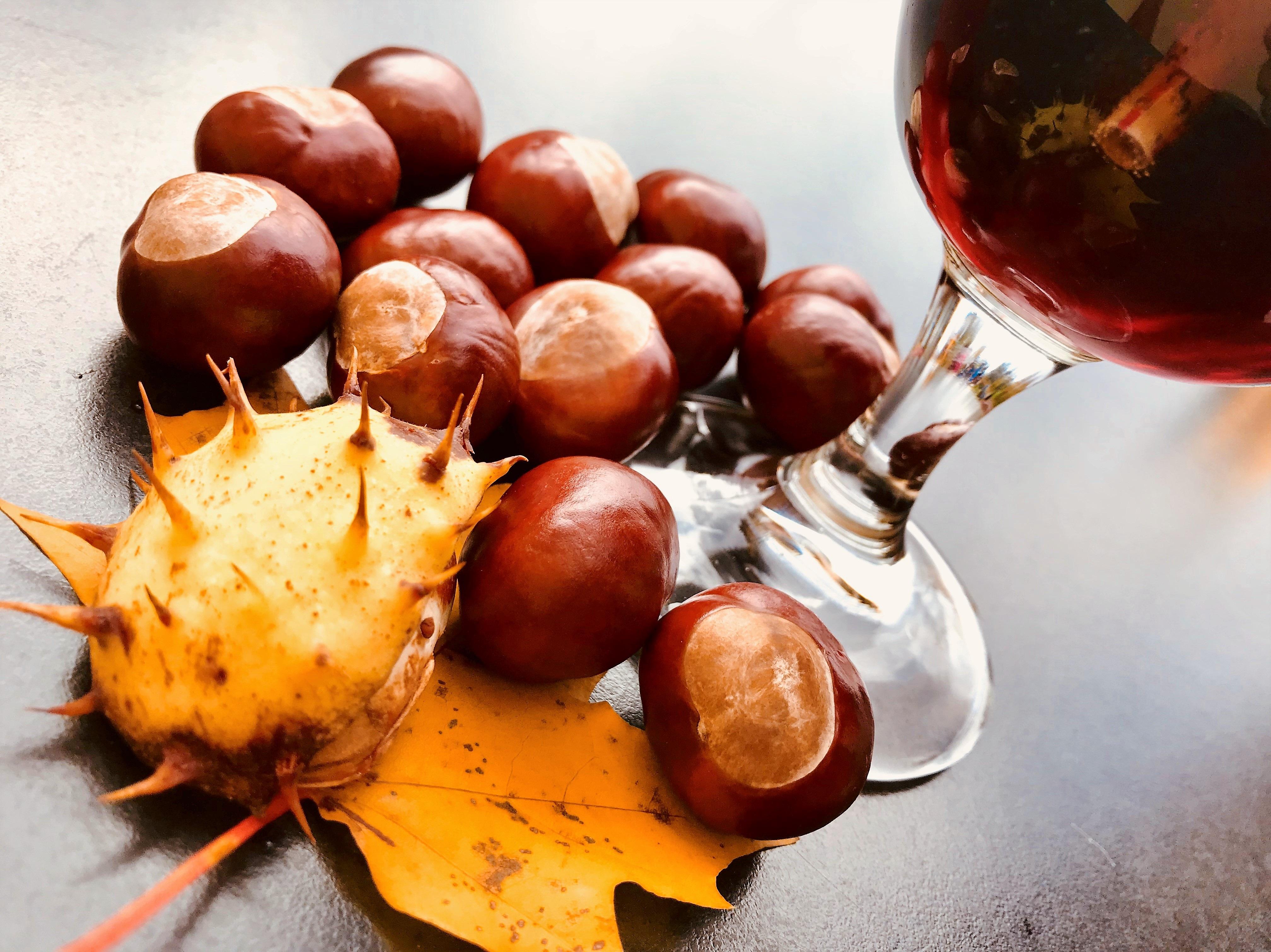 castagne e vino rosso scorciato cantine ramarro